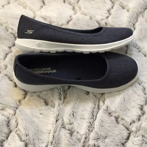 Shoes - Skechers Go Ga Max navy slip on shoes